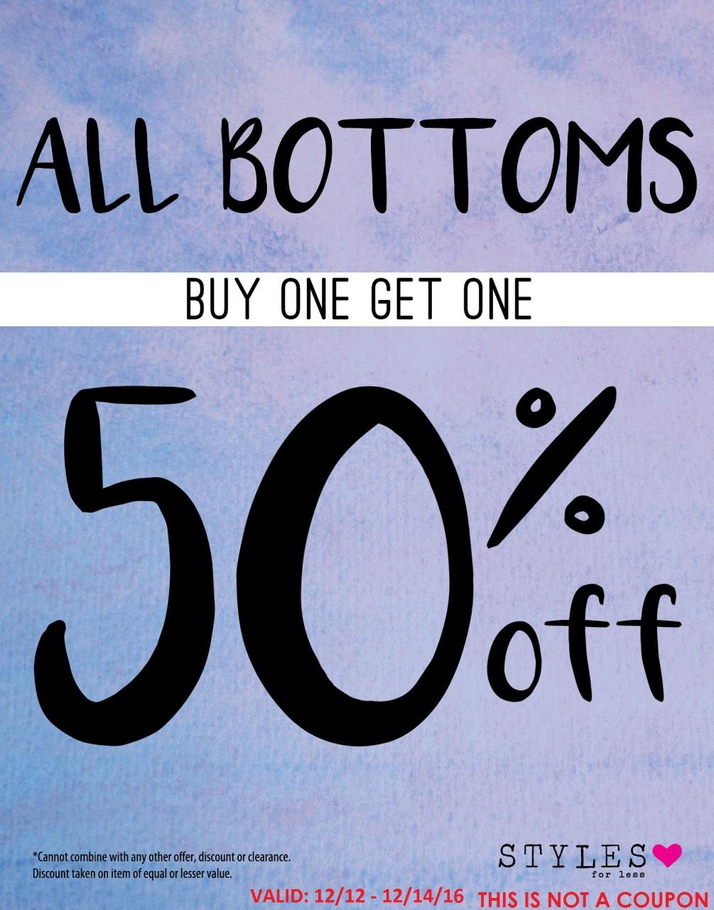 thumbnail_SFL - B1G1 50%25 off All Bottoms
